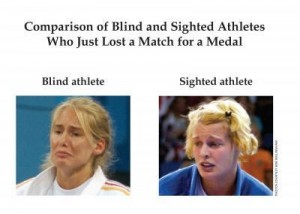 blind sighted athletes emotional expressions innate